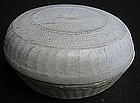 Chinese White Glaze Covered Powder Box