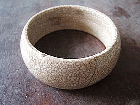 Chinese Ge Yao Ceramic Bracelet Bangle