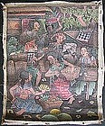 Balinese Oil Painting of Marketplace