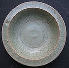 Twin Fish Celadon Brush Washer Saucer