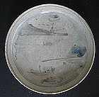 Blue and White Landscape Saucer