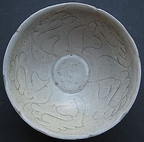 Sung Green Glaze Celadon Carve Bowl