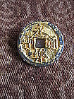 Antique Chinese Ming Coin Tie Brooch Pin