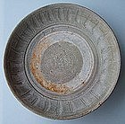 Northern Sung to five Dynasties Plate with incised pattern