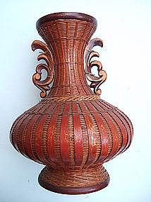 Japanese Bamboo Basket Vase