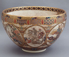 Satsuma earthenware tea bowl by Meizan