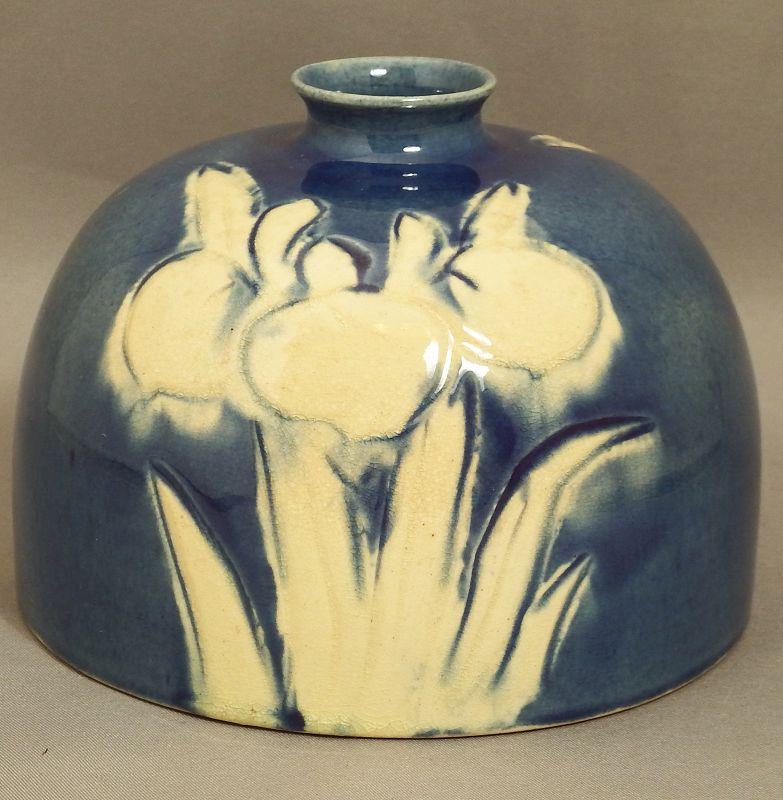 Japanese Awaji pottery vase