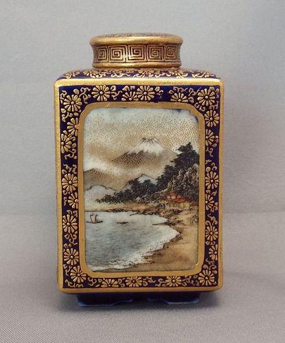 Kinkozan Satsuma Tea Caddy--Rare miniature
