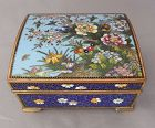 Beautiful Japanese Cloisonne Hinged Box