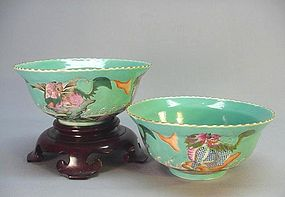 A PAIR OF CHINESE EARLY 19TH C. CERAMIC BOWLS