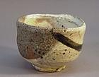 Contemporary Kohiki style guinomi by Koie Ryoji