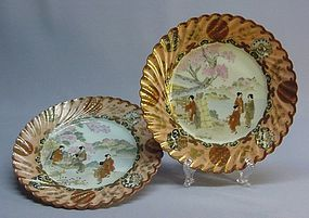A PAIR OF JAPANESE 19TH CENTURY KUTANI DISHES