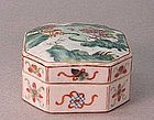 CHINESE LATE 19TH C. PORCELAIN SEAL BOX