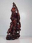 CHINESE WOOD STATUE(LONGEVITY)