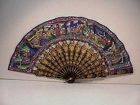 Paper and Lacquer Fan