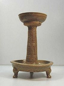 3-Leged Glazed Lamp Base(Yue Ware)