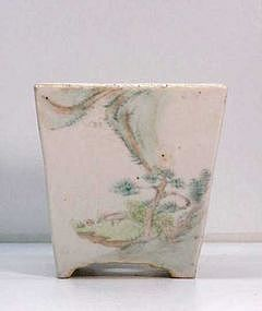 Chinese Porcelain Square Planter