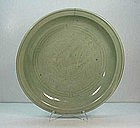 Chinese Ming Dynasty Celadon Plate