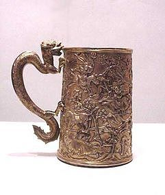 Chinese Export Silver Tankard