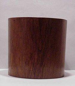 Large Chinese Wood Brush Holder