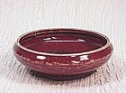 Chinese Red Porcelain Brush Washer