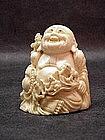 Chinese Ivory Hotai with Children