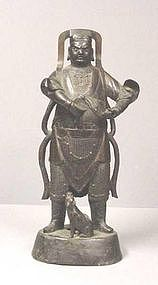 CHINESE MING DYNASTY BRONZE GUARDIAN #1