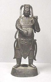 CHINESE MING DYNASTY BRONZE GUARDIAN #2