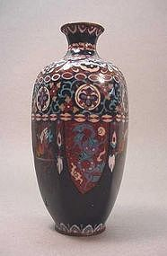 JAPANESE HEXAGON CLOISONNE VASE