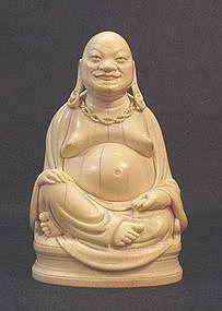 CHINESE IVORY BUDDHA STATUE
