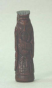 18TH C.JAPANESE WOOD NETSUKE FIGURE
