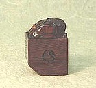 19th C. JAPANESE WOOD NETSUKE OF ONI