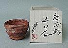Japanese Beni Shino guinomi  by Kouchi Hidetoshi