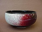 Contemporary red under glaze copper bowl by Alan Viglan