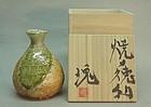 Contemporary Shigaraki  tokkuri by Tsujimura Kai