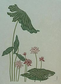 PAPER CUT-OUT OF LOTUS