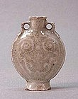 MID 19TH C. CHINESE MOLDED MEDICINE BOTTLE