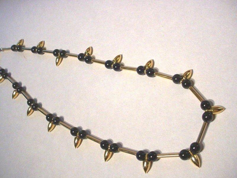 """14k GF """"Onyx"""" Pendant Necklace ~26Gr"""