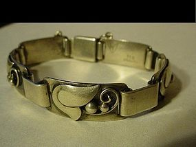 Laurence Foss Sterling Double Leaf Bracelet~30.8Gr