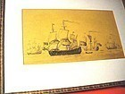 19thC~Signed   Man- of- War Print