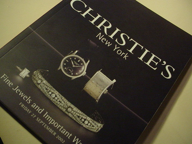 Christie's ~Fine Jewels +Important Watches 9/02