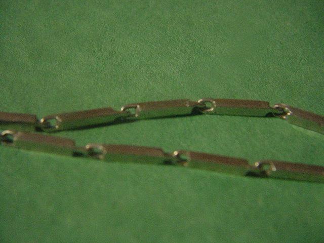 "Sterling Bar Chain ~19"" ~9.3Gr"