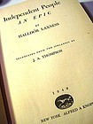 Independent  People An Epic~Halldor Laxness~1946