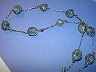 Caged Sodalite Silver Necklace ~24""