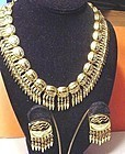 "Judith Leiber ""Mayan""  Necklace + Earring Set"