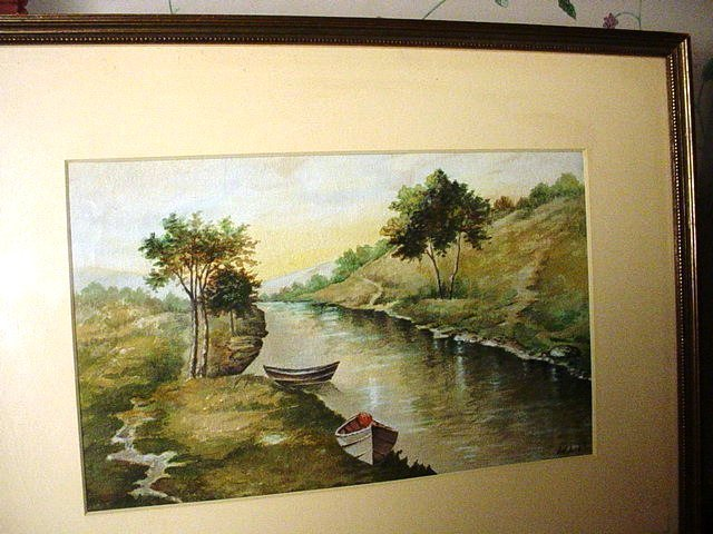 Early 20thC  River Scene ~ Harriet L. Barnecott