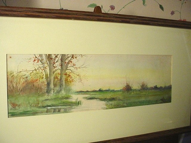 19thC  Watercolor ~Meandering Stream ~ ELLIS