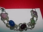 LORAN SIM ~ Gilt Silver Filigree Scarab Bracelet