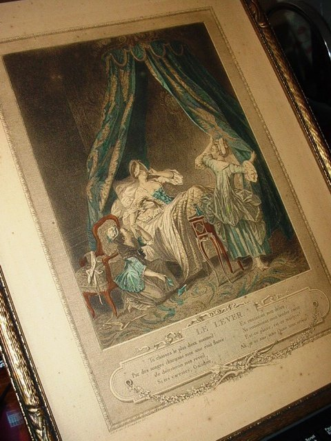 Antique Hand Colored Engraving~Etching LE LEVER