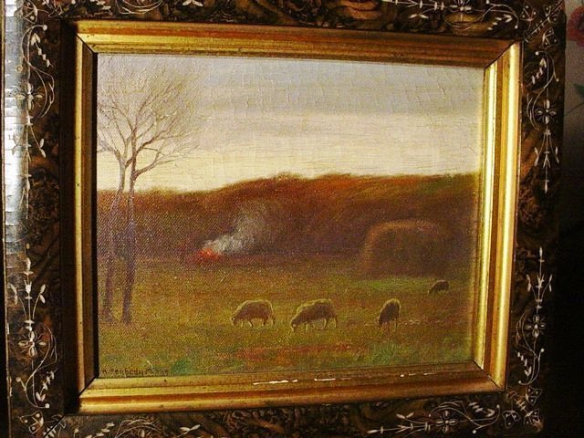 A Pastoral Scene ~  Hiram Peabody Flagg (1859-1937)  O/C